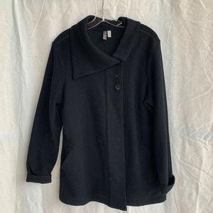 Ibex Boiled Wool Asymmetrical Jacket